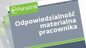 Odpowiedzialno materialna pracownika