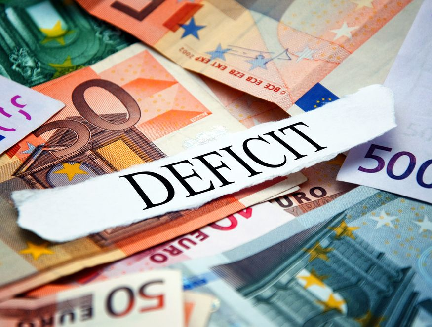 Deficyt, euro Fot. Shutterstock