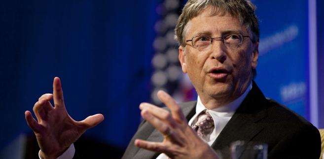 Bill Gates, prezes Microsoft Corporation, przemawia w Economic Club of Washington, DC, Waszyngton, DC, USA