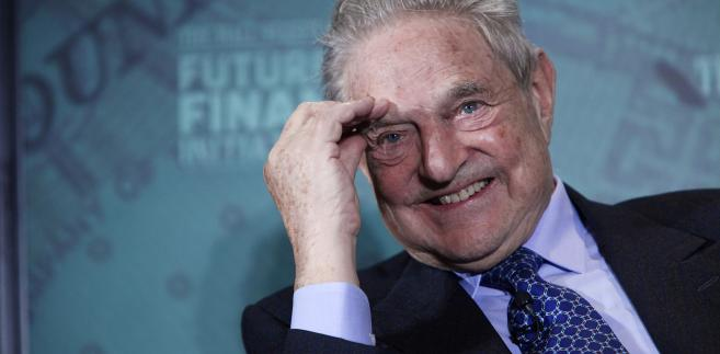 Miliarder George Soros, założyciel i prezes Soros Fund Management LLC, przemawia w trakcie konferencji Wall Street Journal Global Finance w Horsham.