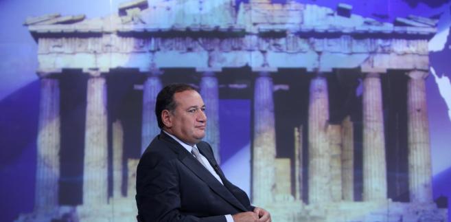 Spyrols Capralos, prezez Ateńskiej Giełdy Papierów Wartościowych. Po wyborach, w poniedziałk po otwarciu główny indeks giełdy ateńskiej spadł o ponad 7 proc.