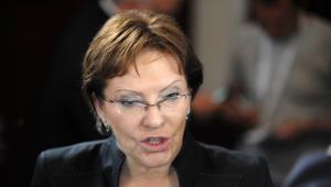 Minister zdrowia Ewa Kopacz otwiera listę wyborczą PO w okręgu 17, w województwie mazowieckim.