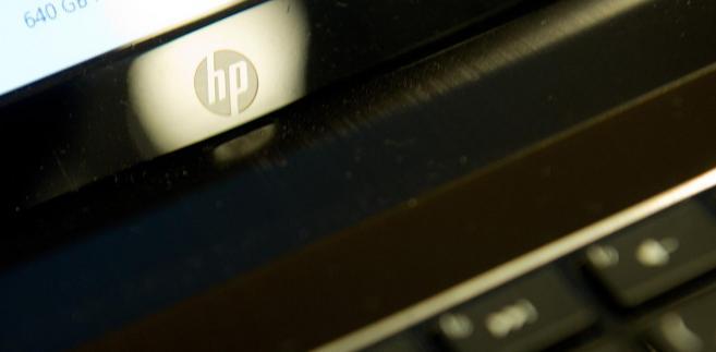 Logo Hewlett-Packard. Fot. David Paul Morris/Bloomberg