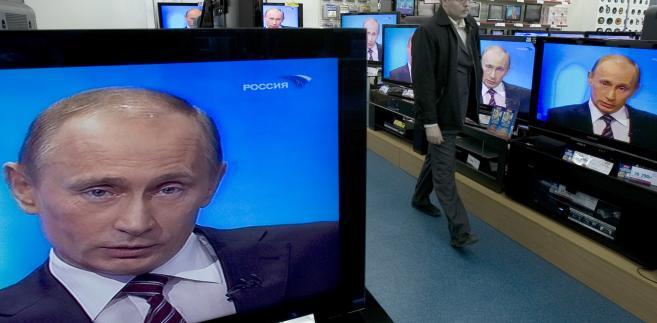 Na ekranie telewizora - Wladimir Putin
