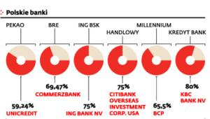 Udziały obcych banków w polskich instytucjach