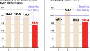 Stawki za usługi magazynowania gazu w Europie