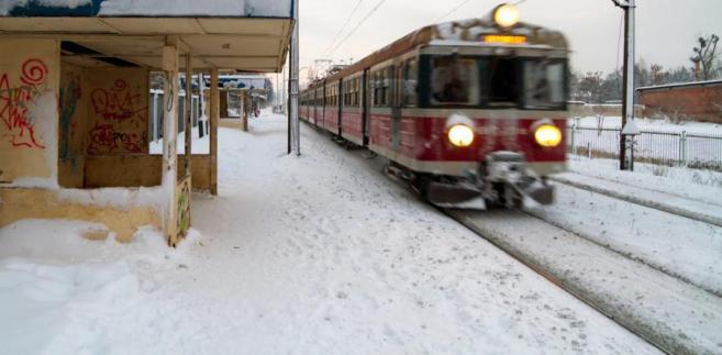 Stacja PKP zimą