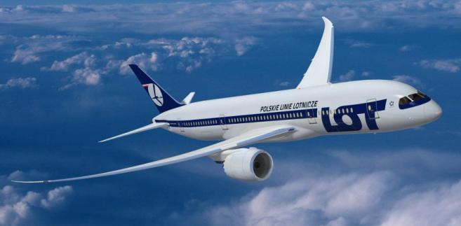 Boeing 787 Dreamliner w barwach polskiego przewoźnika PLL LOT, copyright by Boeing Photo