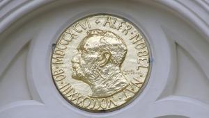Literacka Nagroda Nobla jest przyznawana przez sztokholmską Akademię Szwedzką (Svenska Akademien), która jest niezależną organizacją zajmującą się promowaniem literatury szwedzkojęzycznej i szwedzkiej kultury. Pierwsza nagroda za twórczość literacką, ustanowiona w testamencie Alfreda Nobla, została przyznana w 1901 roku. Jej laureatem został francuski poeta Sully Prudhomme.