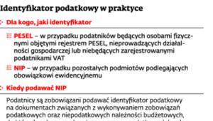 Identyfikator podatkowy w praktyce
