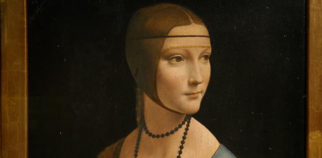 """""""Dama z gronostajem"""" Leonarda da Vinci należy do kolekcji Czartoryskich"""