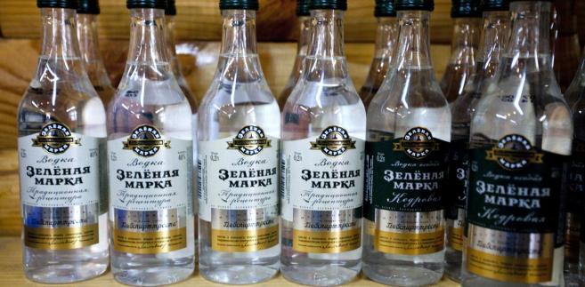 """Rosyjska wódka """"Zielona marka"""" wytwarzana przez Russian Alcohol Group."""