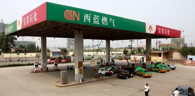 Cena benzyny w Chinach przekroczyła historyczną granicę 8 juanów za litr. Stacja benzynowa w Xi'an, w prowincji Shaanxi w Chinach.