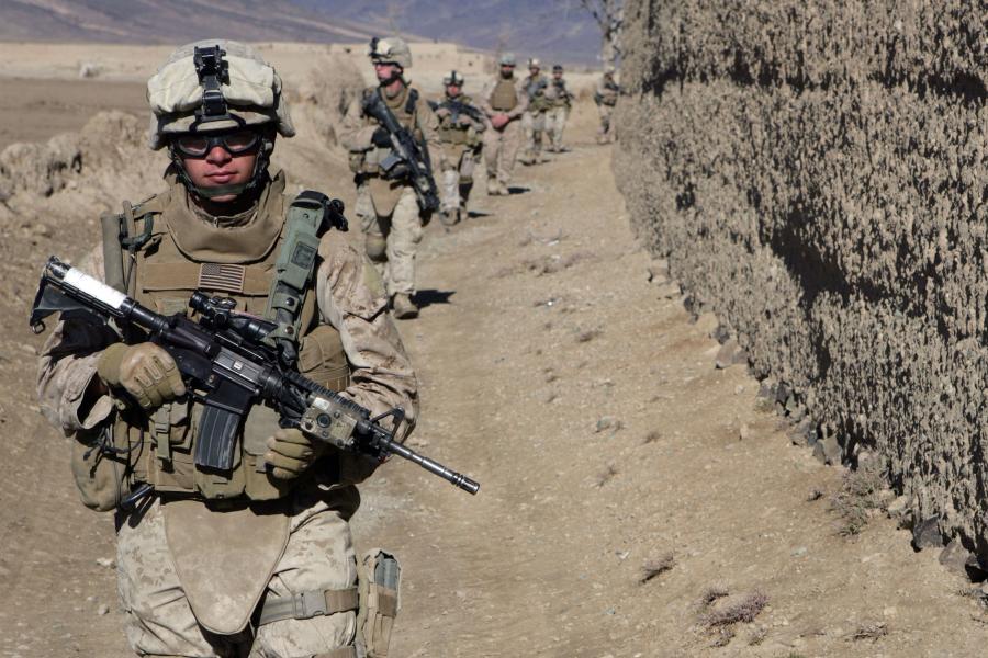 Amerykański oddział w Afganistanie. Fot. Bloomberg