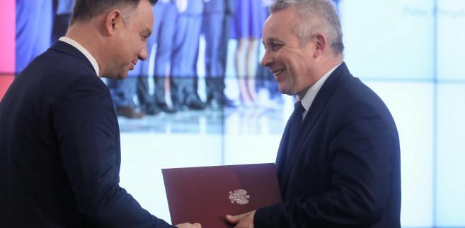Prezydent Andrzej Duda i Zdzisław Sokal