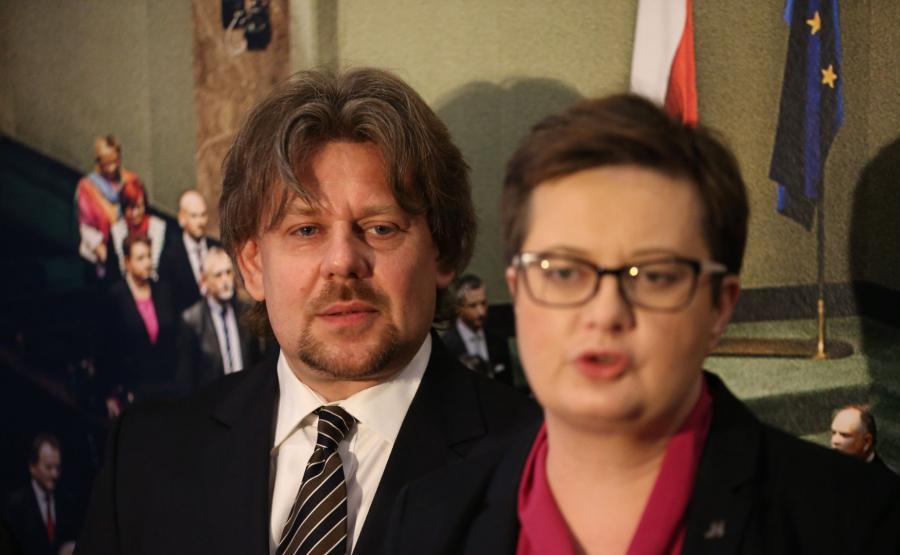 Katarzyna Lubnauer i Piotr Misiło