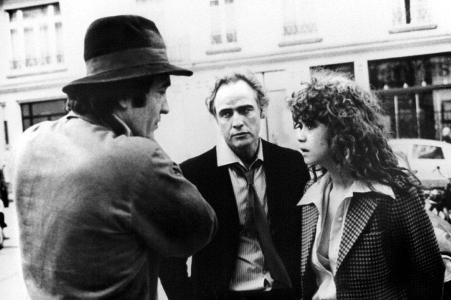 Bernardo Bertolucci na planie filmu Ostatnie tango w Paryżu (1972)