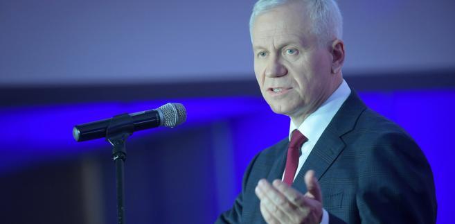 Europoseł Marek Jurek podczas przemówienia inauguracyjnego VI Chrześcijańskiego Kongresu Społecznego.