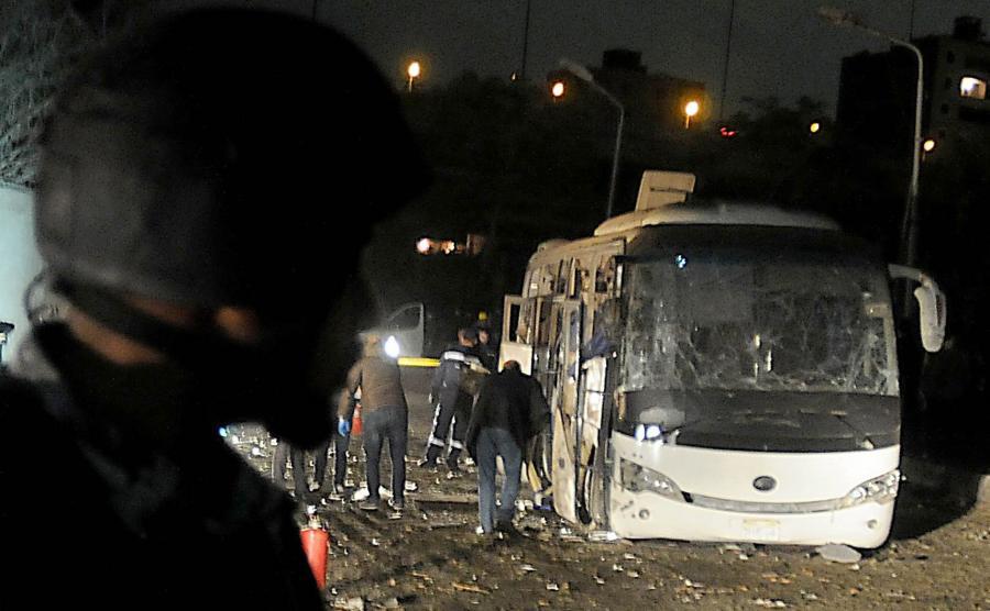 Atak na turystyczny autokar