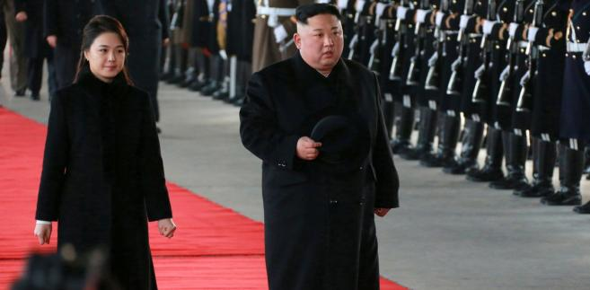 Kim Dzong Un z małżonką