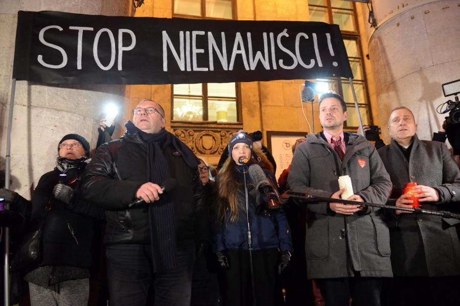 Wiec w Warszawie