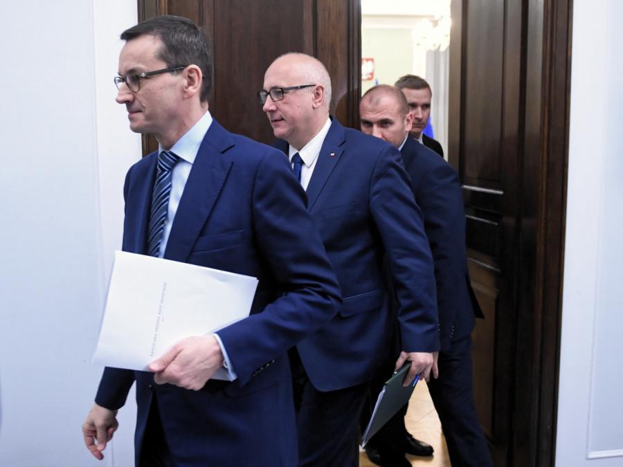 Mateusz Morawiecki oraz szef MSWiA Joachim Brudziński