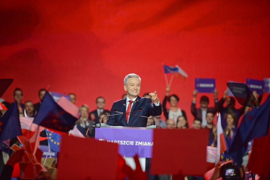 Robert Biedroń konwencja Torwar
