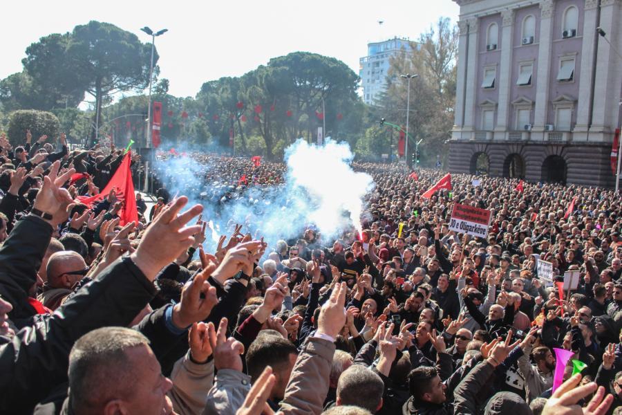 Albania protest Tirana