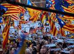 Katalończycy protestowali w Barcelonie przeciwko procesowi separatystów
