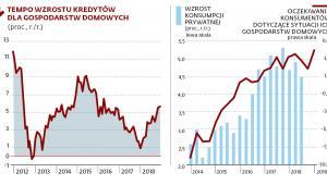Tempo wzrostu kredytów dla gospodarstw domowych
