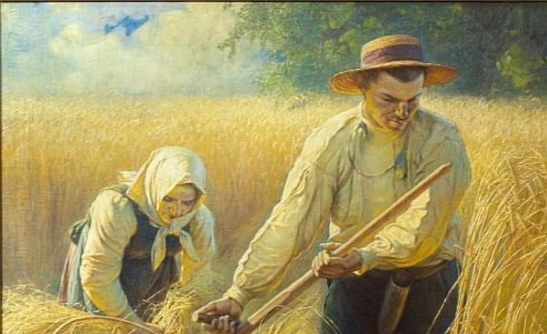 """""""Żniwa"""" - obraz pędzla Adama Ciemniewskiego"""