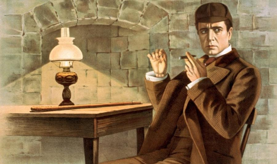 "Fragment plakatu do filmu ""Sherlock Holmes\"