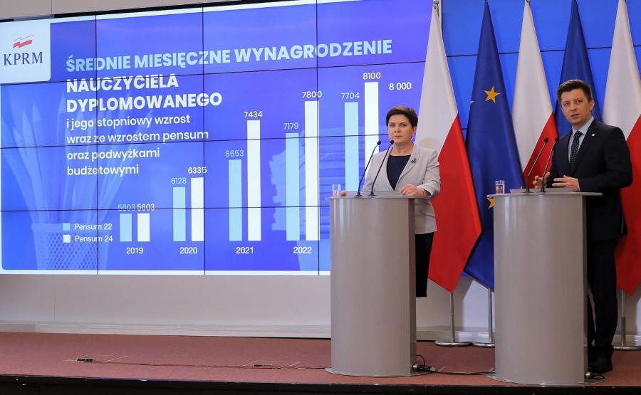 Beata Szydło, Michał Dworczyk