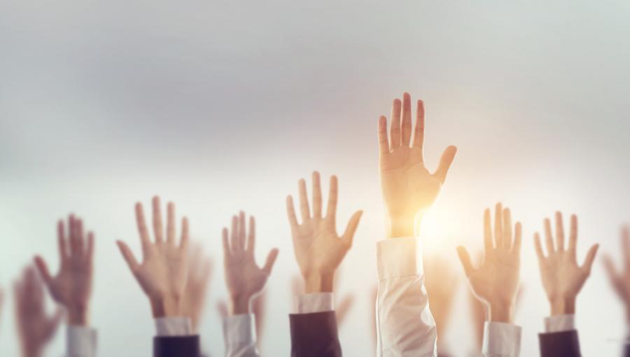 Głosowanie. Ręce w górze
