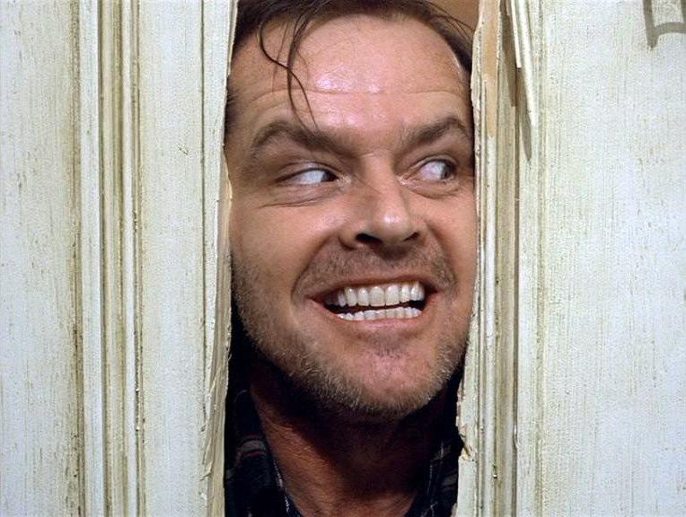 """Jack Nicholson w filmie """"Lśnienie\"""