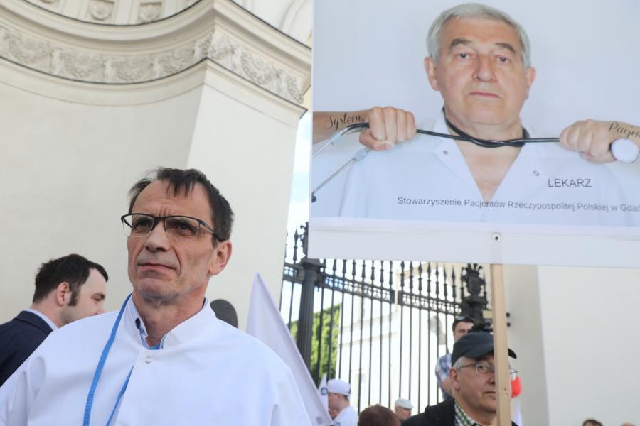 Krzysztof Bukiel, manifestacja Warszawa