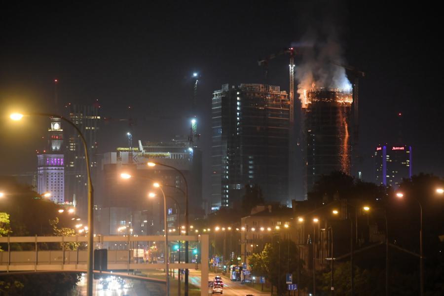 pożar Warsaw HUB 7