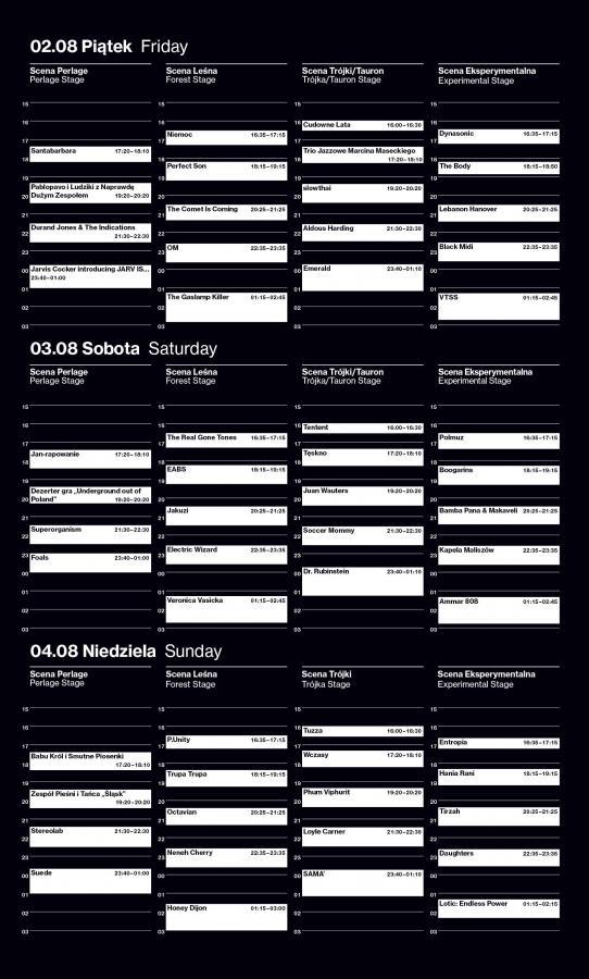 OFF Festival 2019 - cały program i sceny