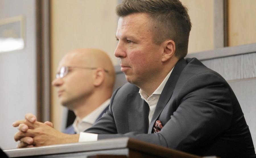 Marek Falenta podczas rozprawy