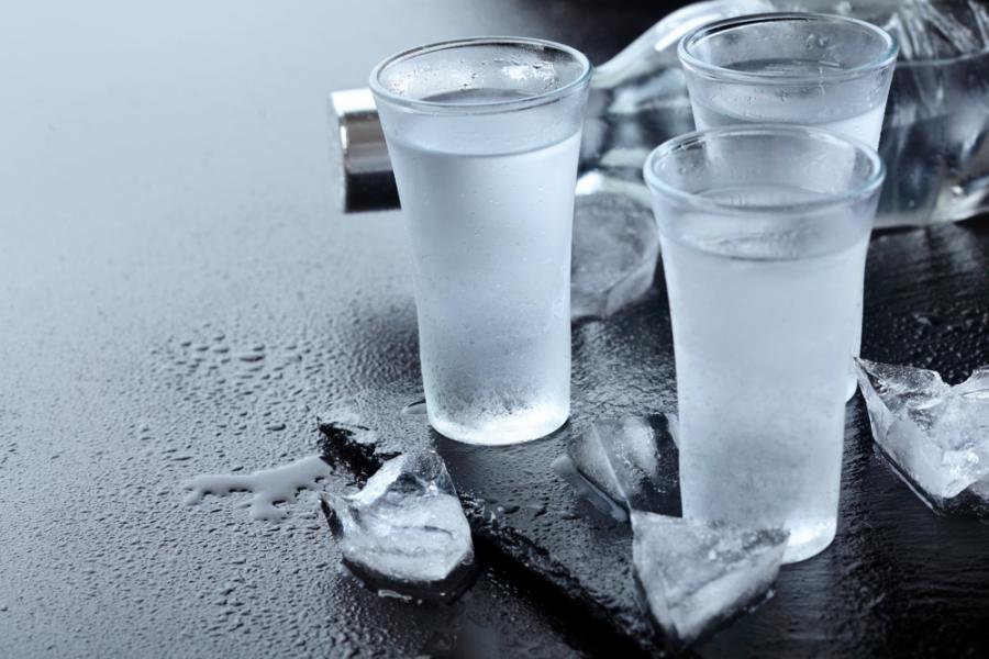 Wódka. Kieliszki