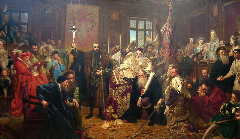 """Jan Matejko """"Unia lubelska\"""