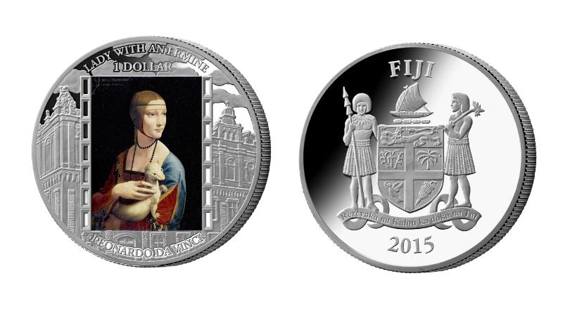 Dama z gronostajem Leonarda da Vinci na monecie