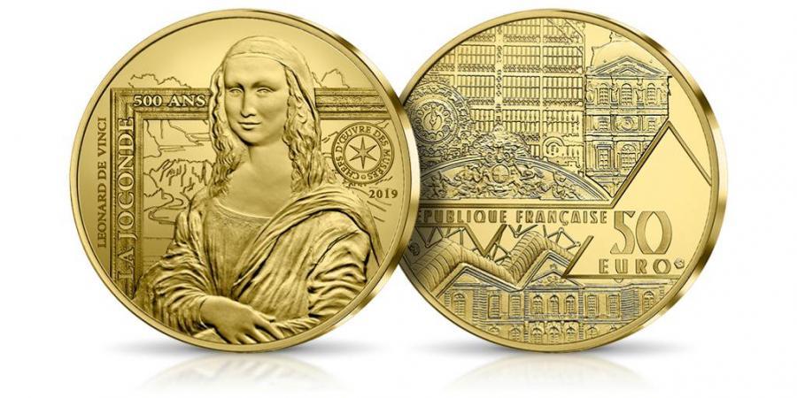 Mona Lisa Leonarda da Vinci na monecie