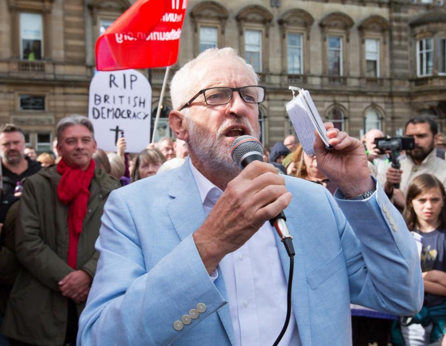 Jeremy Corbyn Londyn protest