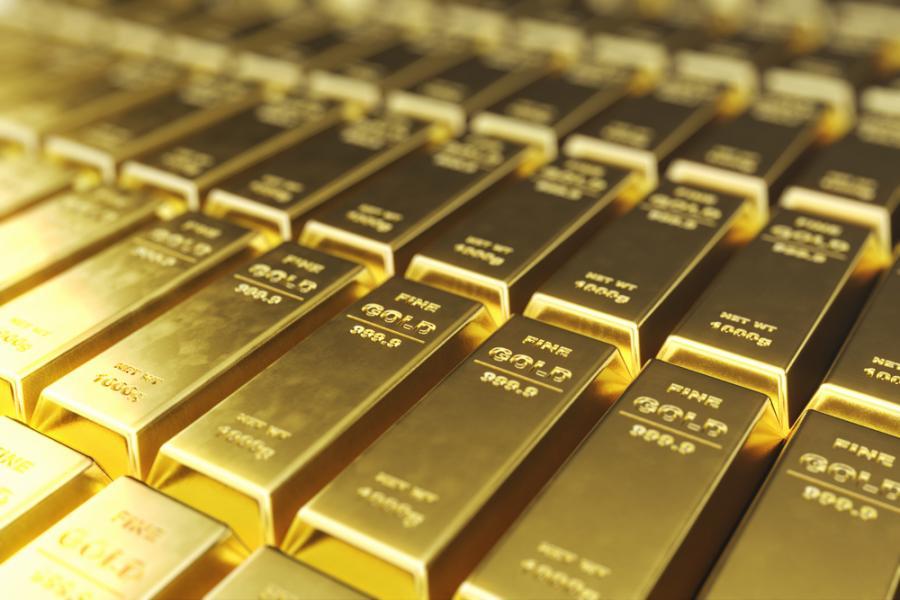 Sztabka sztabki złota złoto