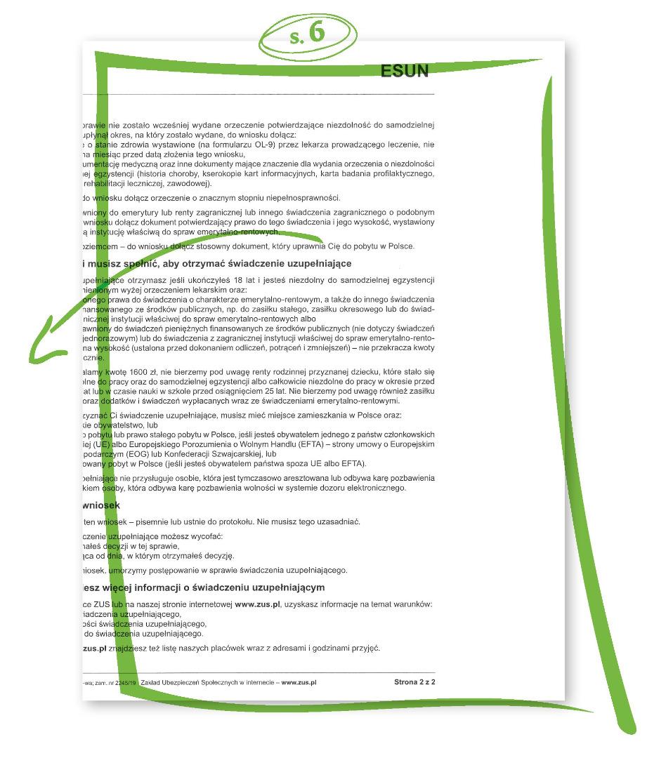 Jak wypełnić wniosek o 500 zł dla niepełnosprawnych s.6
