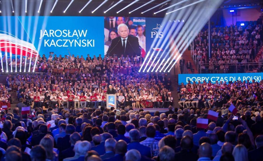 Prezes partii Jarosław Kaczyński podczas konwencji programowej PiS
