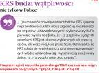 KRS budzi wątpliwości nie tylko w Polsce