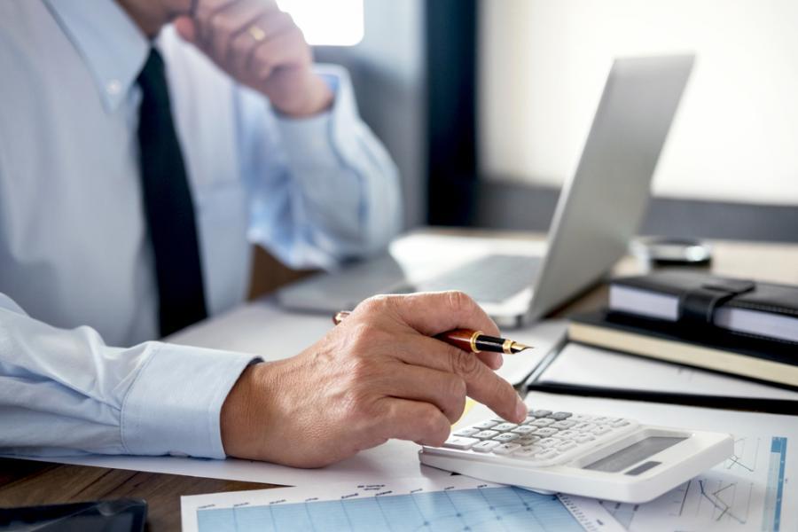 kalkulator, podatki, księgowość, biuro, biznes, praca