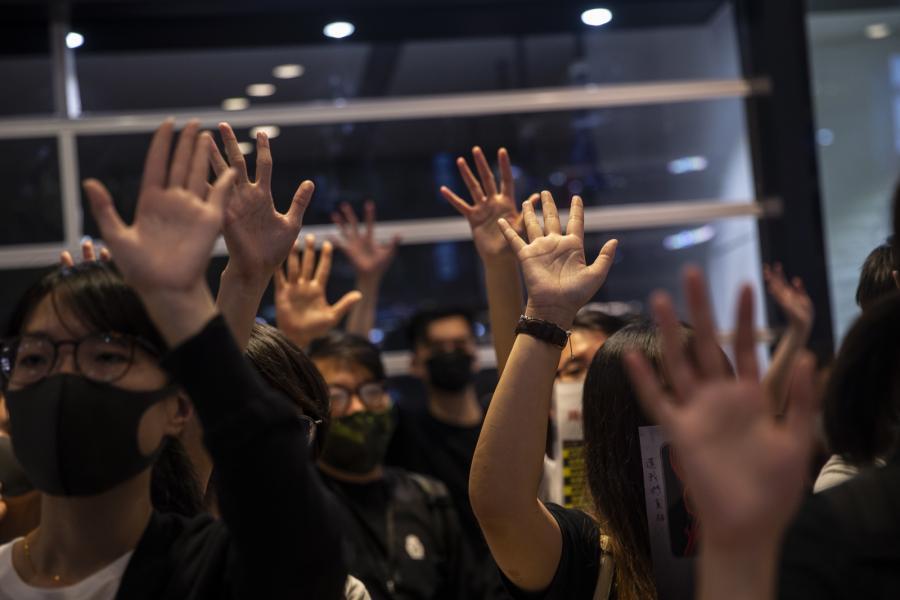 protest w Hongkongu
